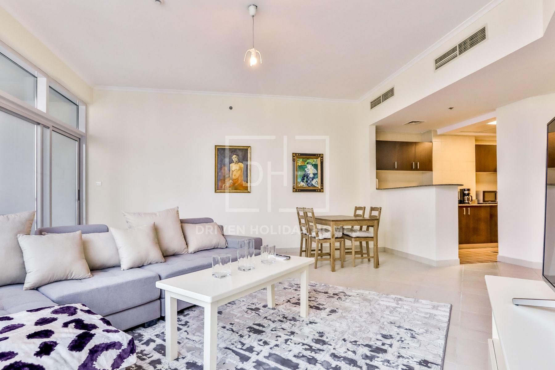 1,258 قدم مربع  شقة - للايجار - دبي مارينا