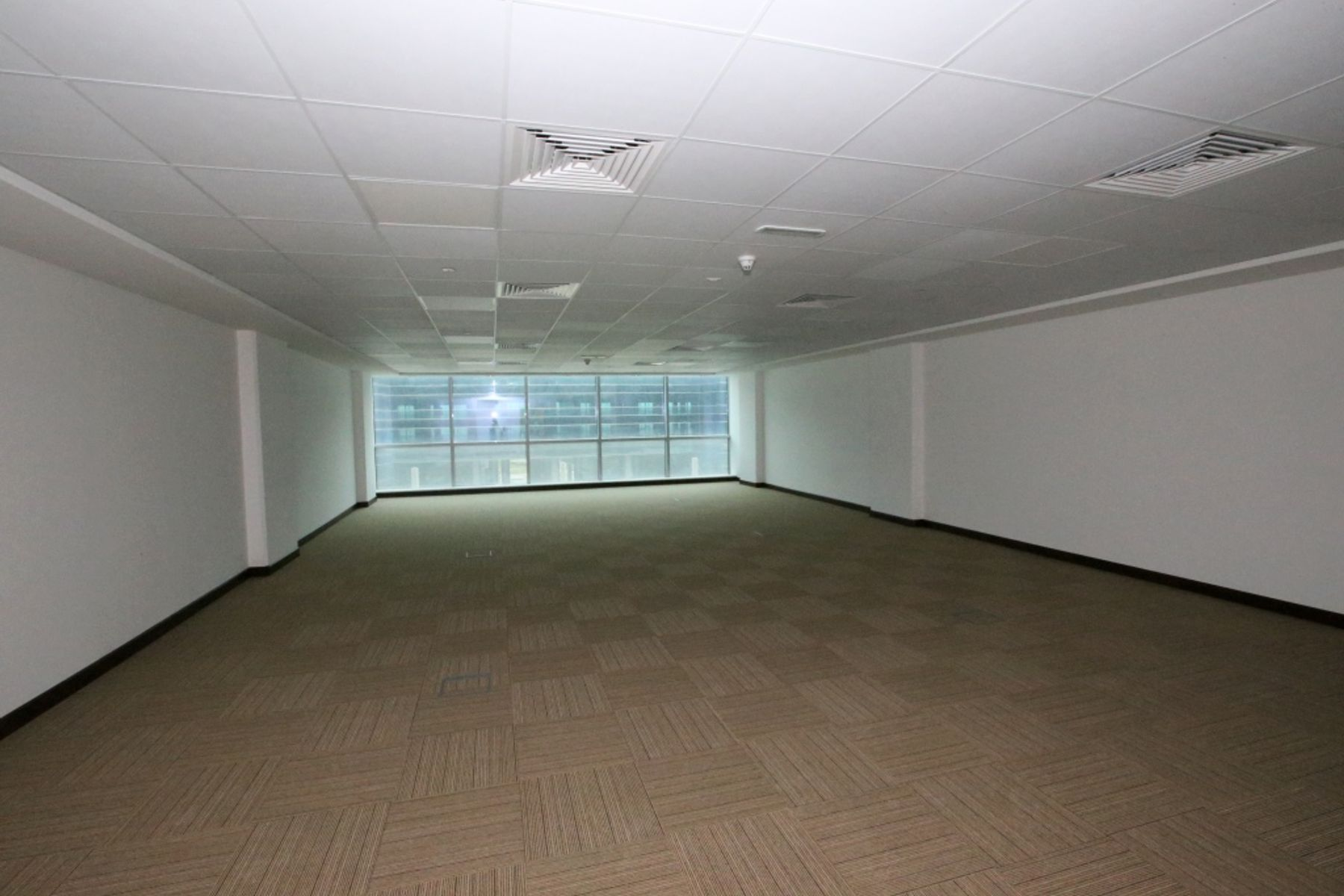 Available fitted office space with glass partition