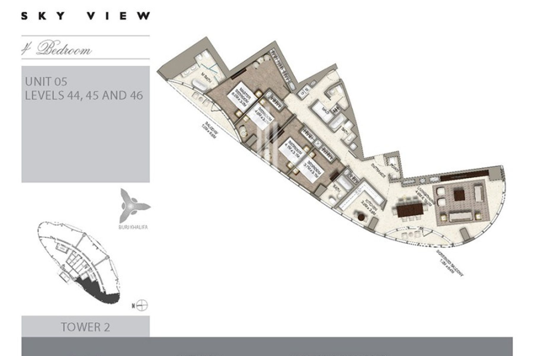 Apartment for Sale in The Address Sky View Tower 2 - Downtown Dubai
