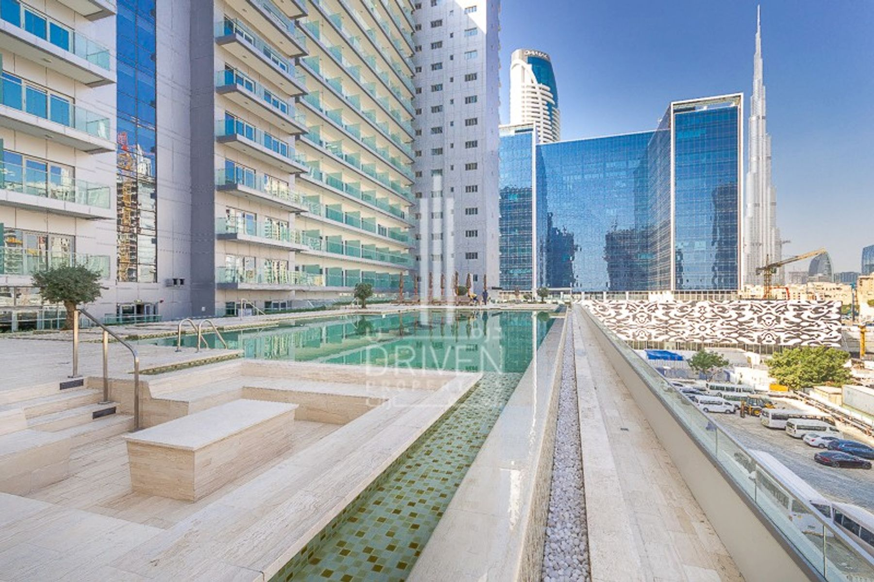 للايجار - شقة - داماك ماجستين - الخليج التجاري