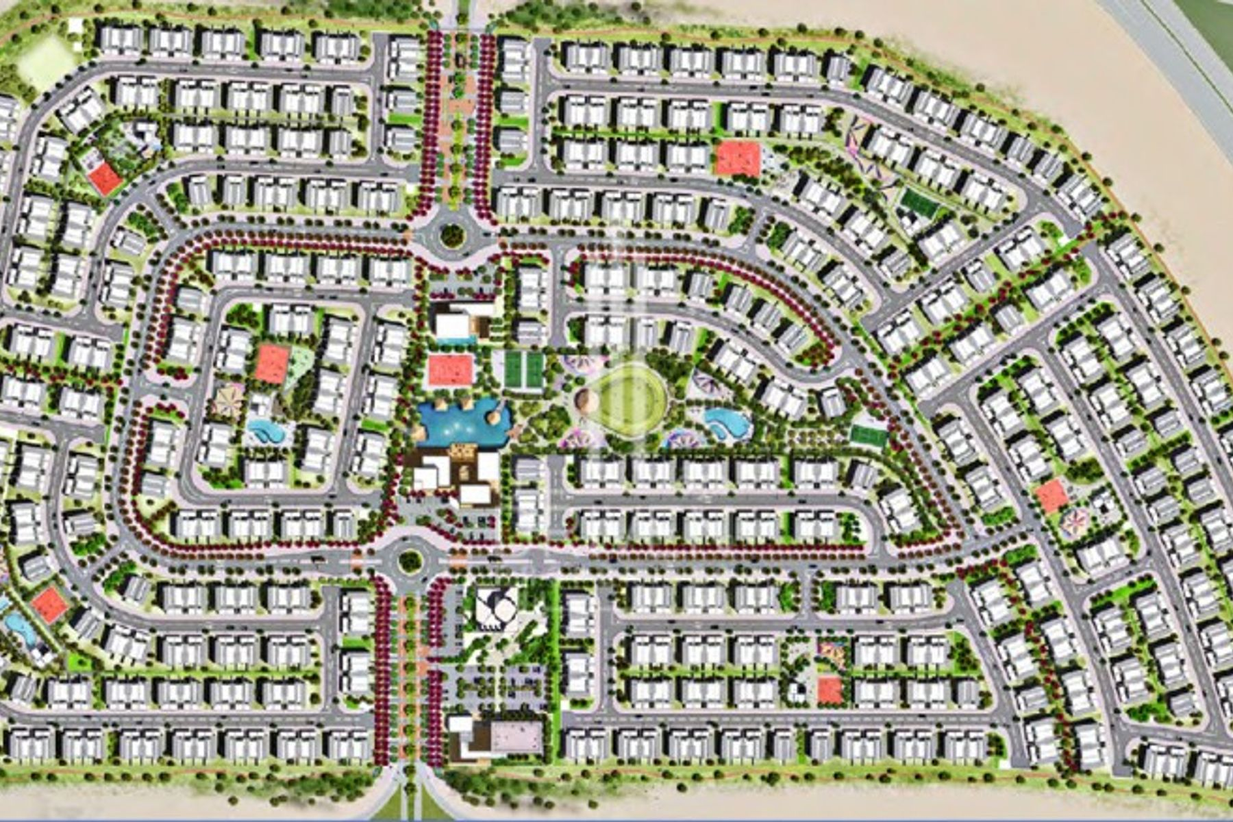 للبيع - تاون هاوس - تشيري وودز - دبي لاند