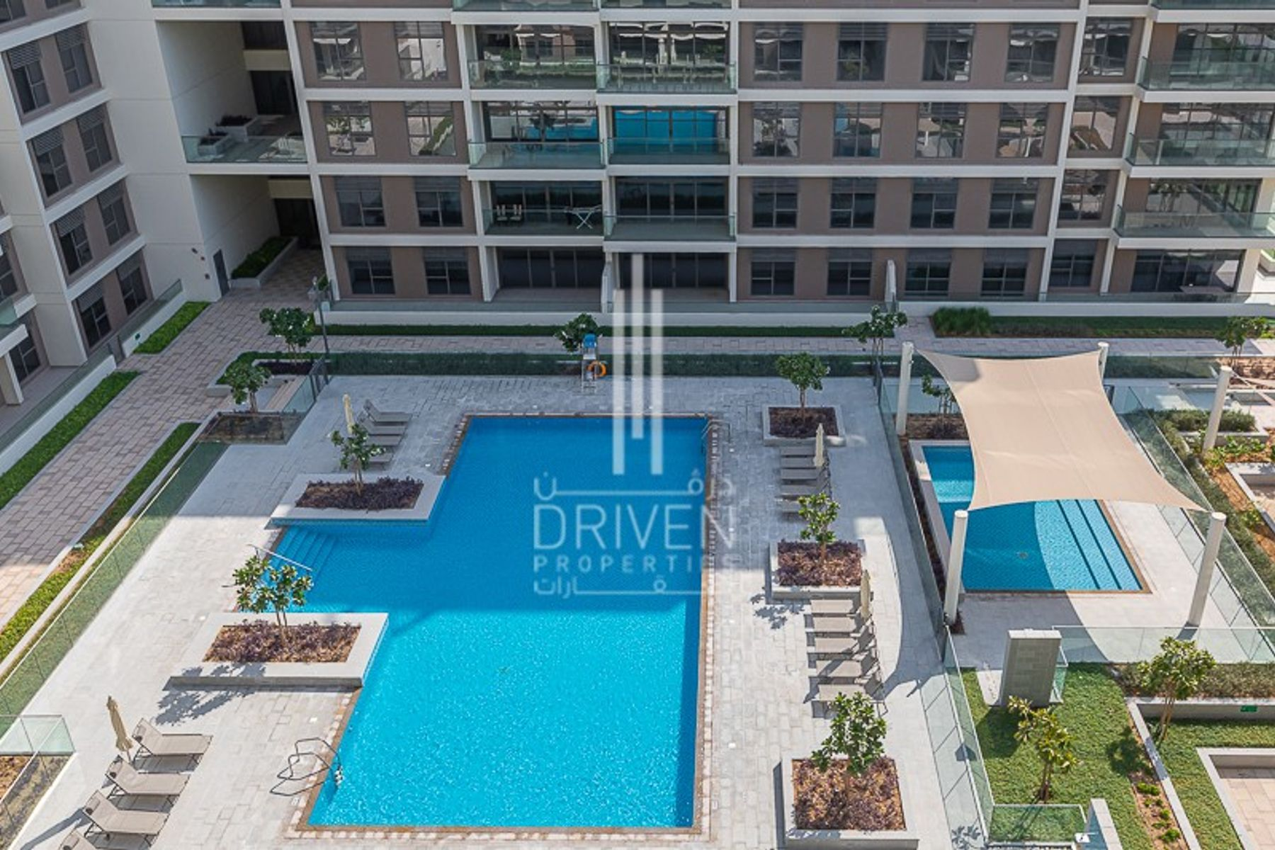 Exclusive 2 Bed with Pool and Park Views