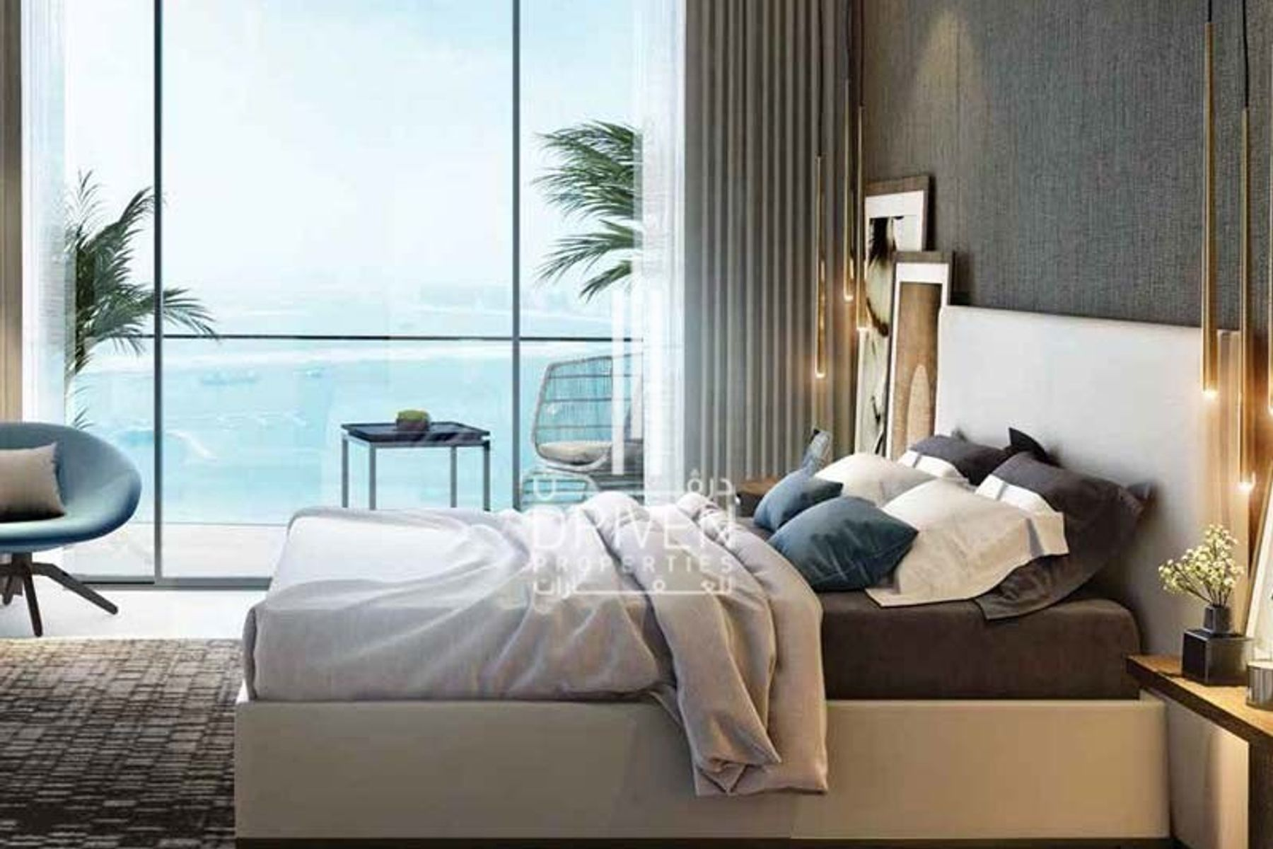 Luxurious 1 Bed Apt with Sea and Marina View