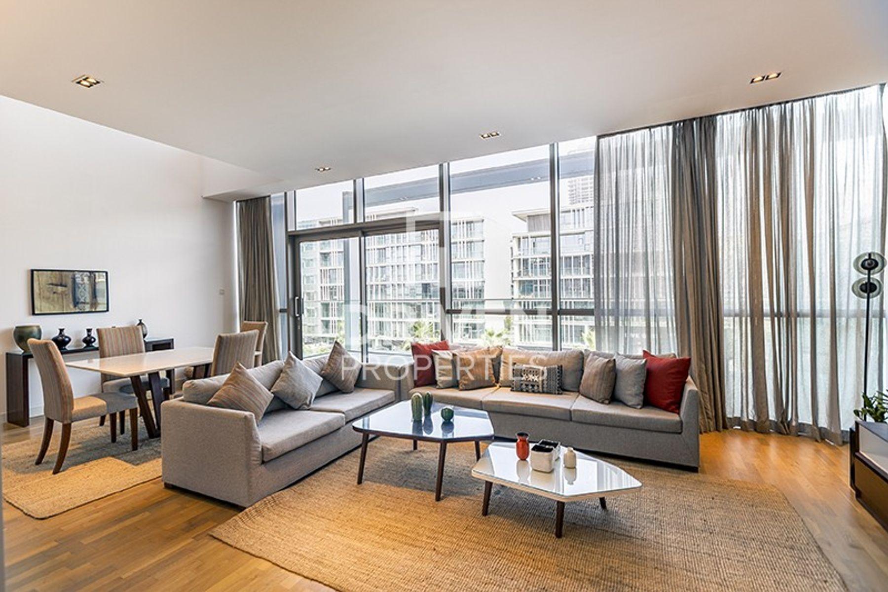 Furnished 2BR Duplex with Burj Khalifa Views