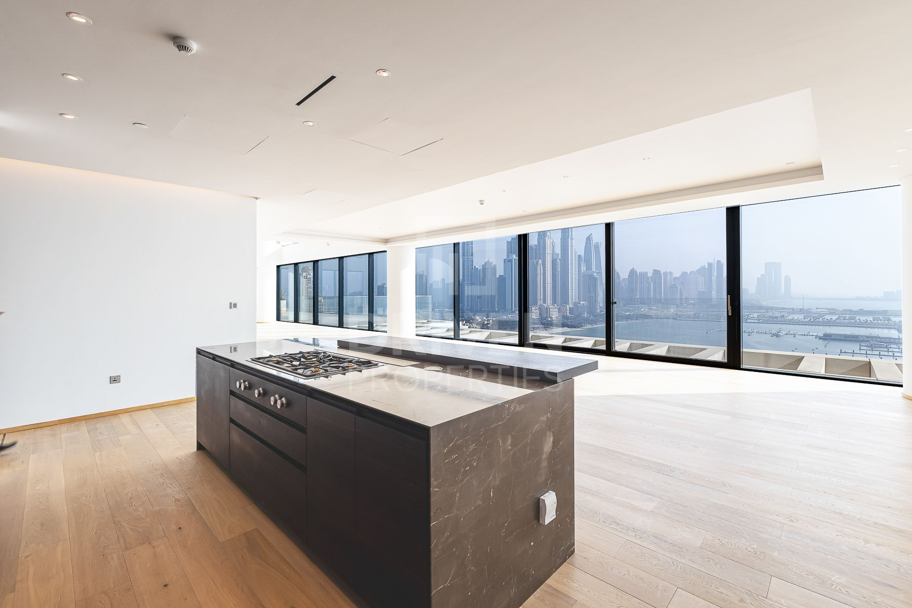 kitchen inside one at palm jumeirah penthouse