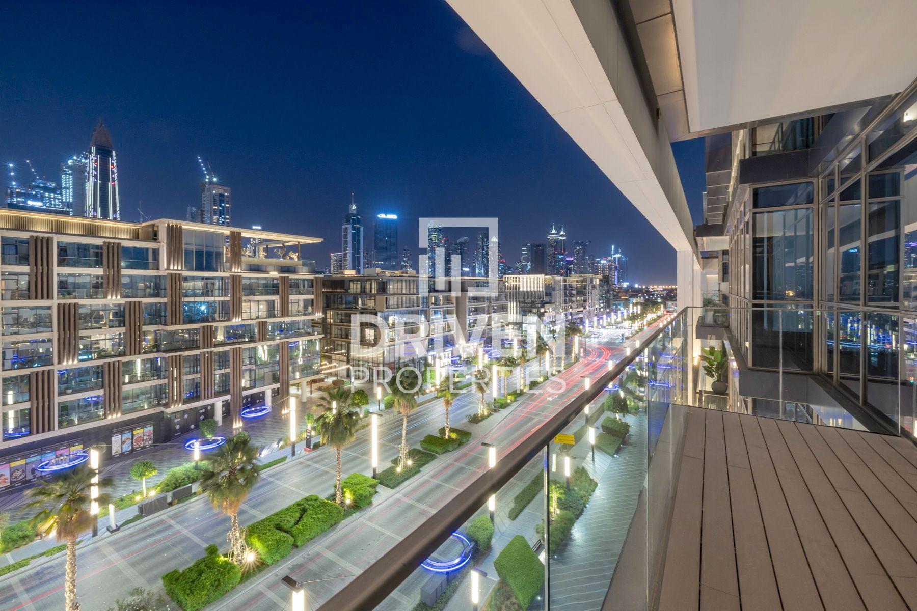 Large Balcony Overlooking Main Boulevard