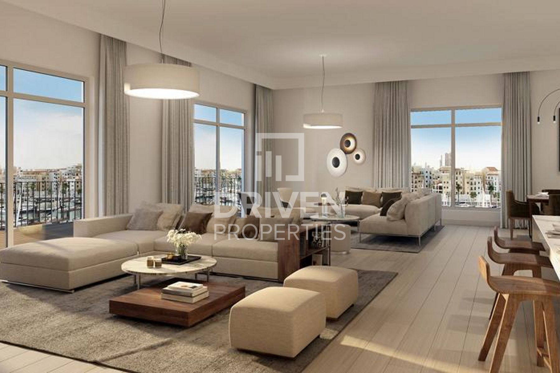 Luxurious Living with Skyline Marina View