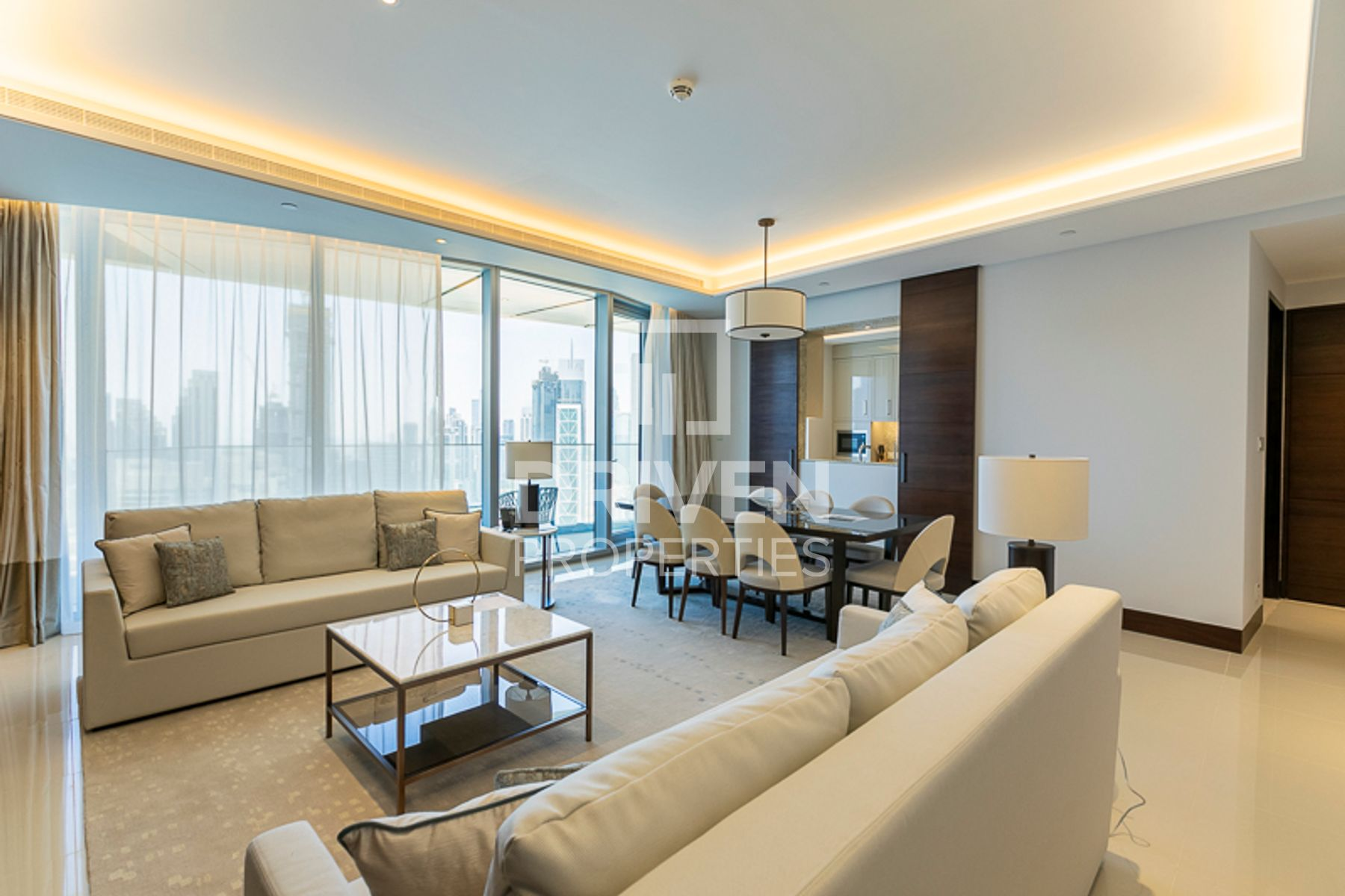 Furnished 3 Bed Apt with Burj Fountain View