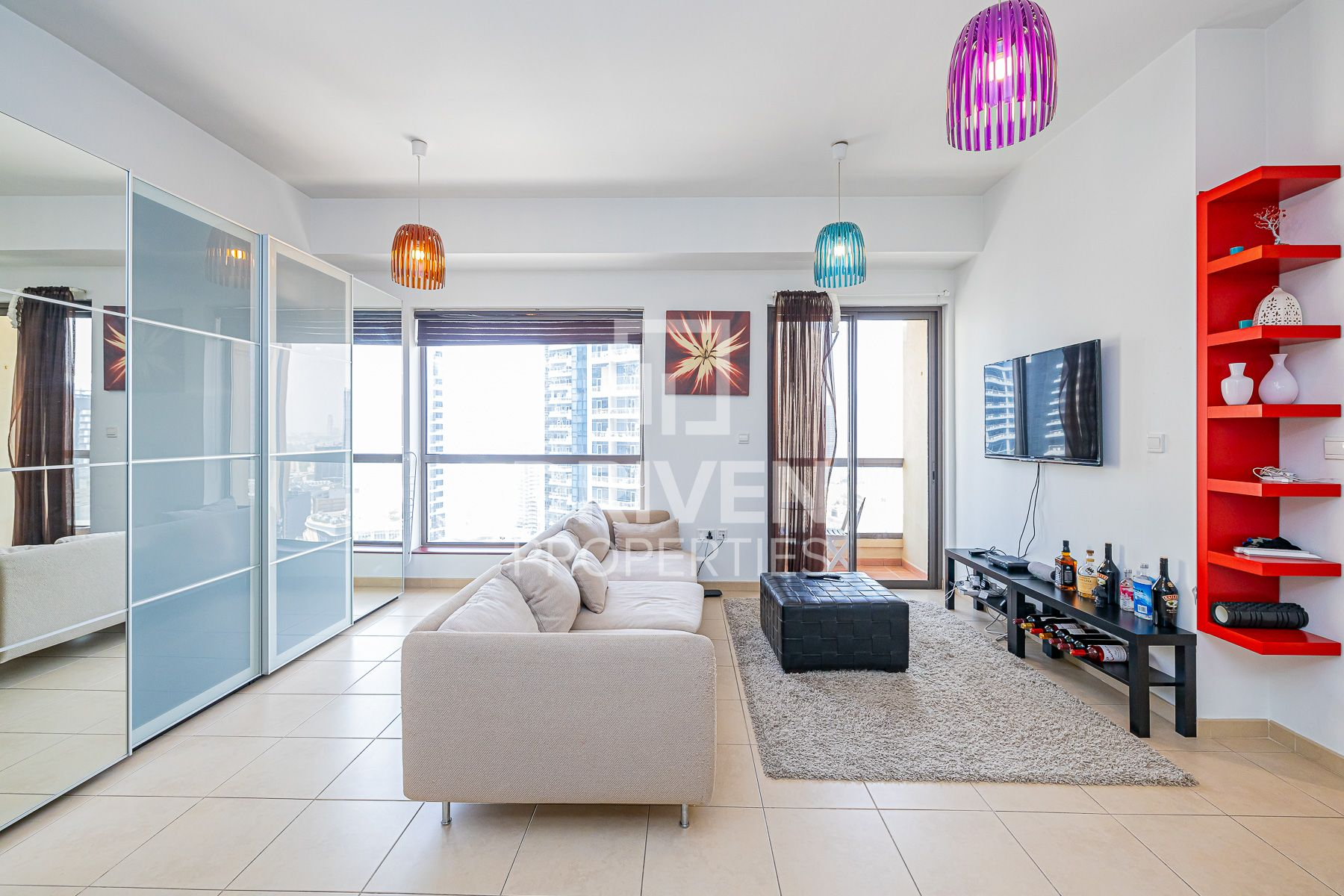 Fully Furnished Unit with Full Marina View