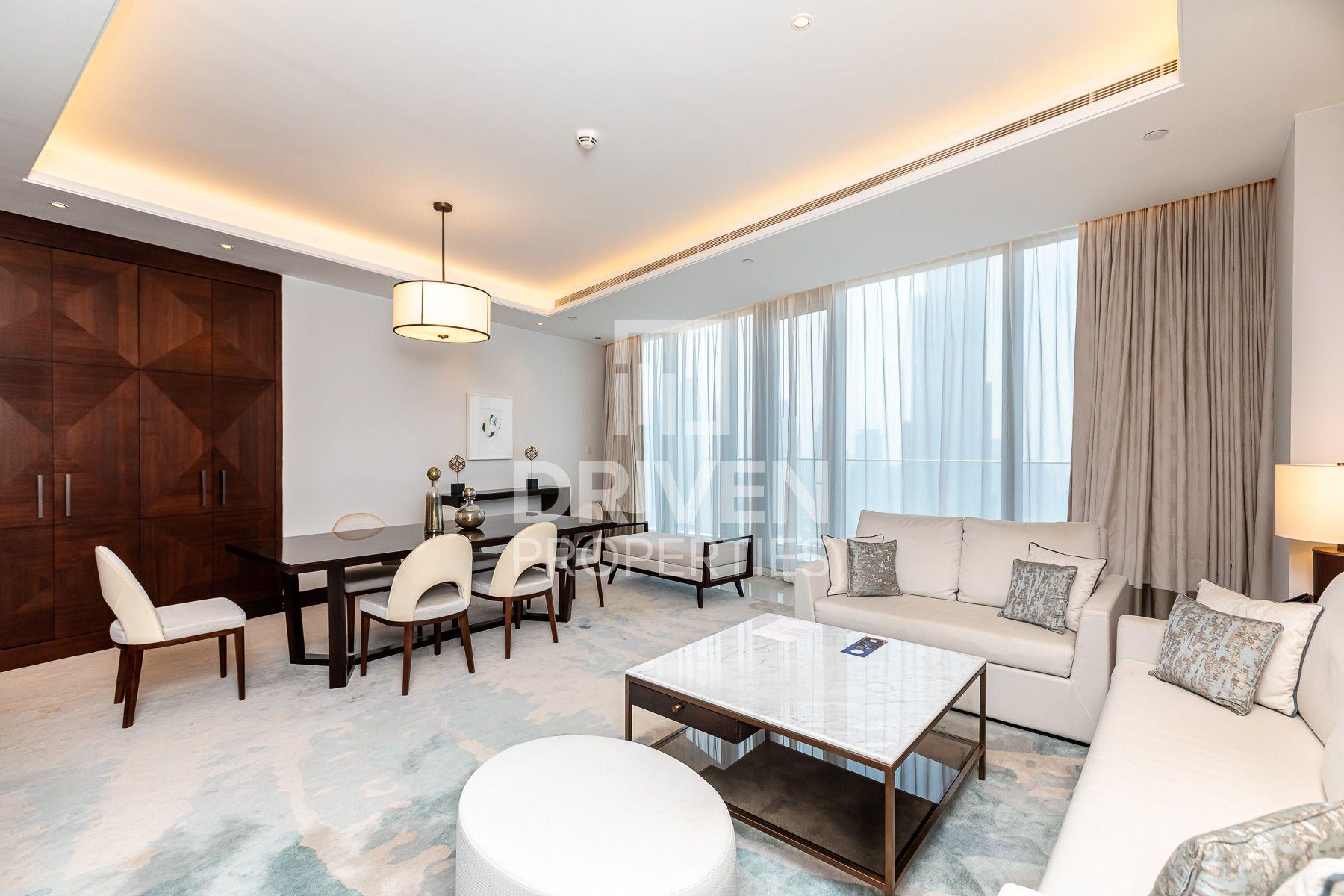 للايجار - شقة - فندق العنوان- سكاي فيو 2 - دبي وسط المدينة