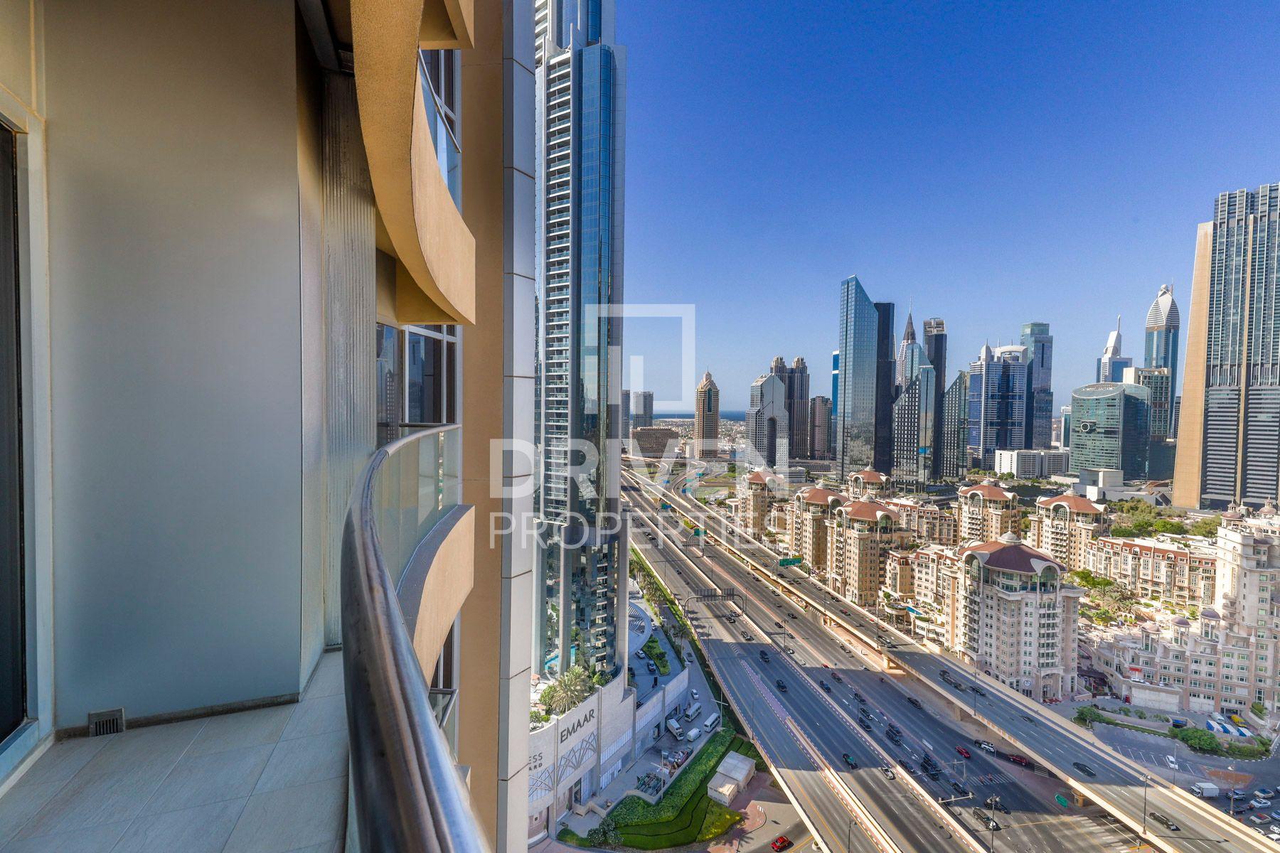 للايجار - شقة - فندق العنوان دبي مول - دبي وسط المدينة