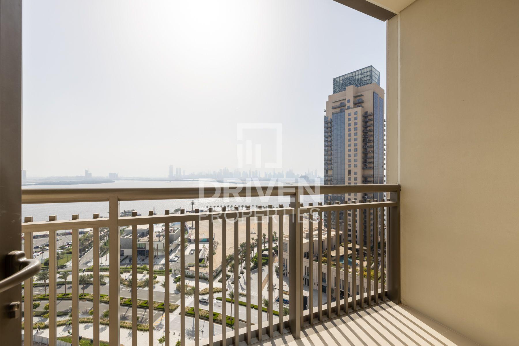 للايجار - شقة - B كريك سايد 18 - ميناء خور دبي