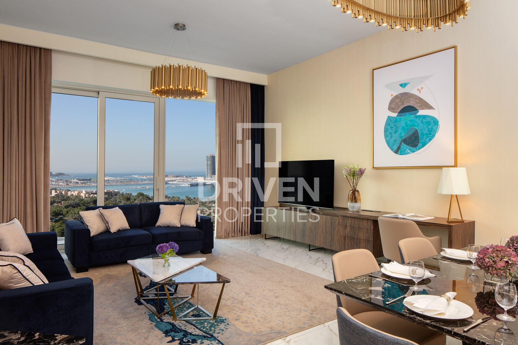 High Floor Apt and Furnished w/ Sea View