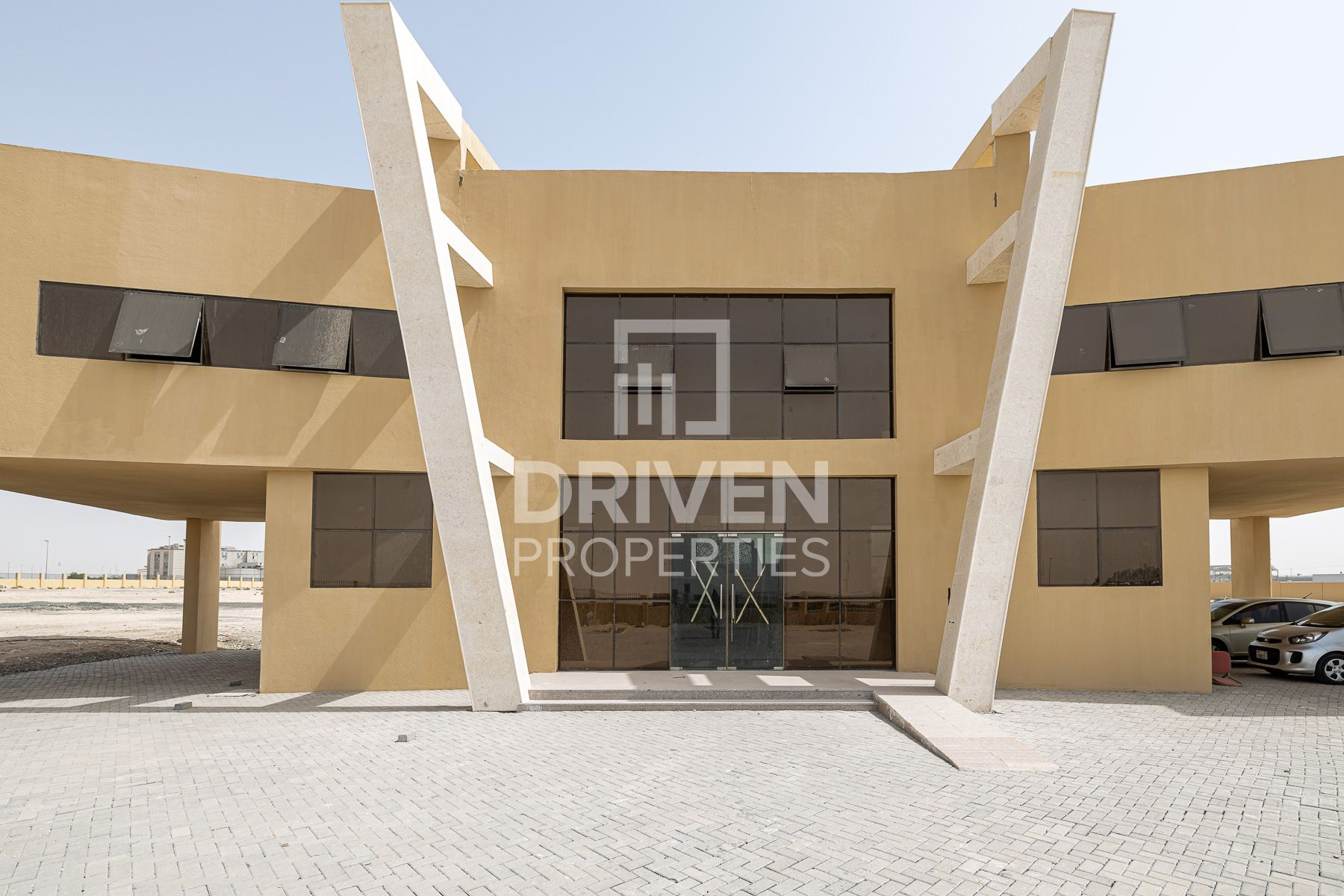 Open yard fenced W/ office Building in DIC