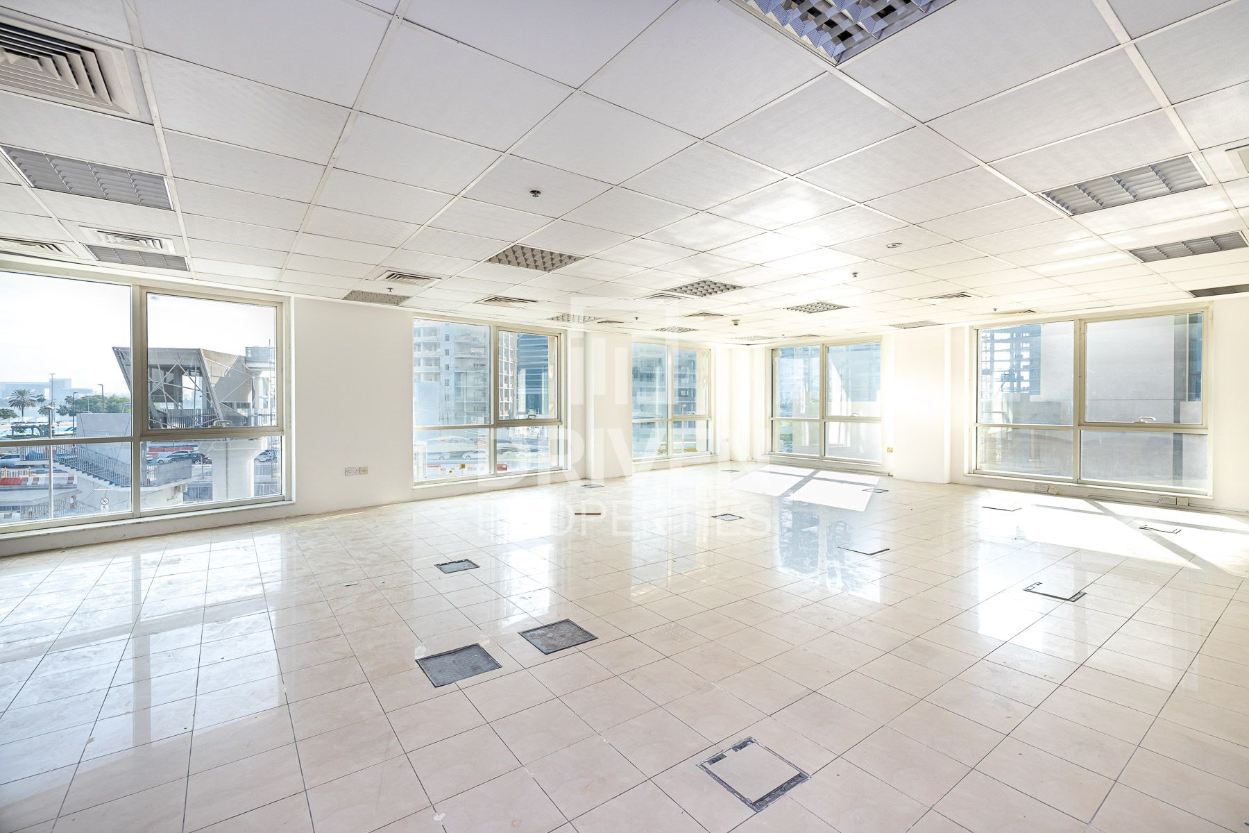Well-managed Office and Partly Furnished