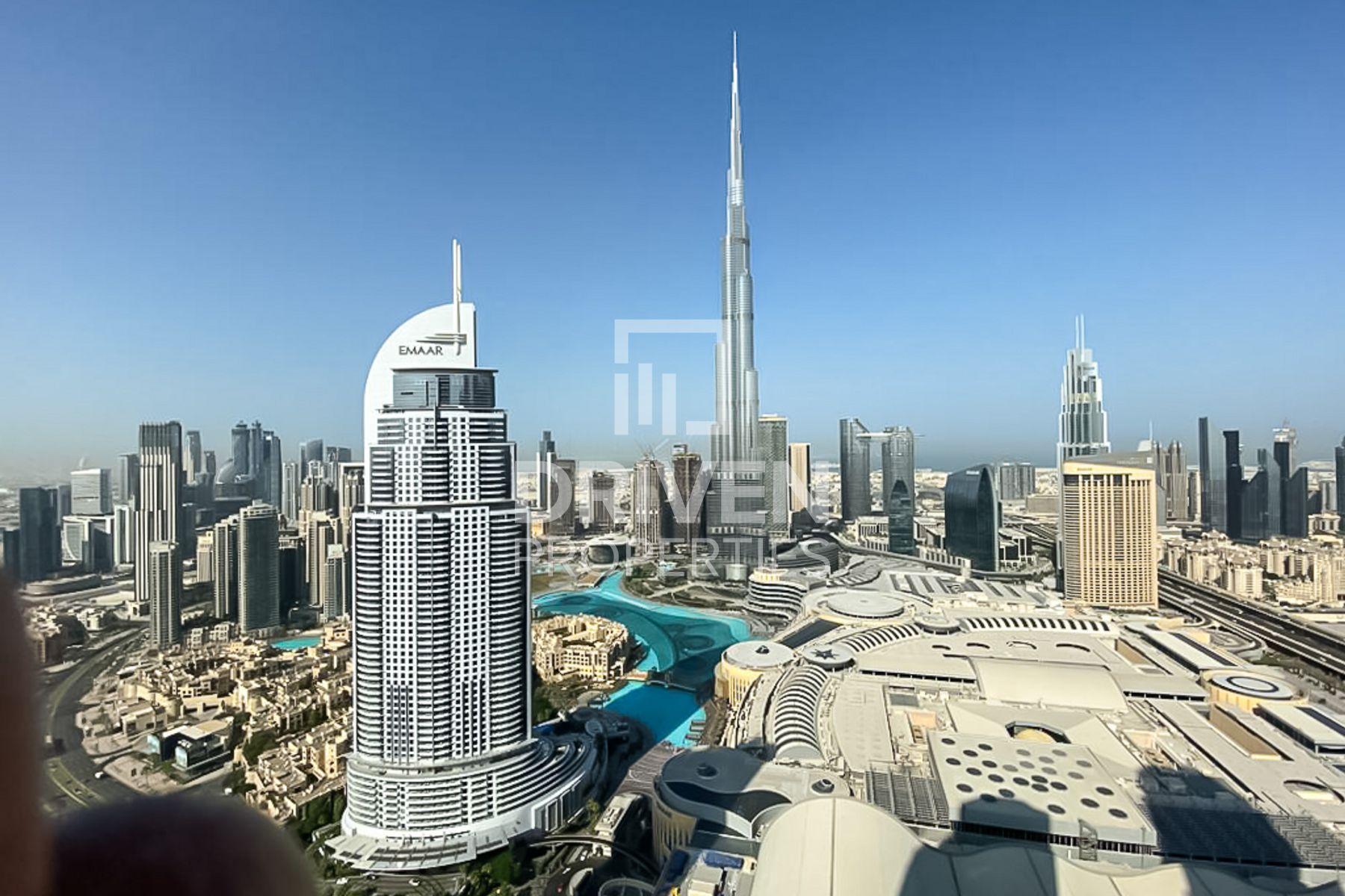 Fully Furnished W/ Burj & Fountain Views